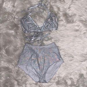2 piece festival/rave outfit